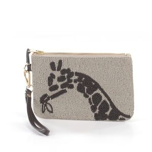 Chico's Bags - Chico's Giraffe Inspired Beaded Clutch Wristlet